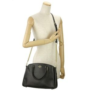 Coach Bags - Coach Leather MD Sage Carryall Bag Black F28976